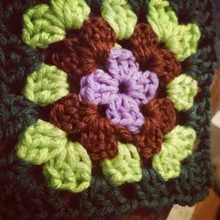 Standard granny square in four colours
