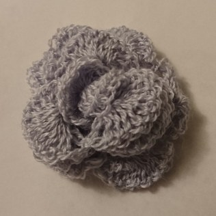 Rose crocheted in lace