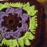 Granny square with flower in the middle